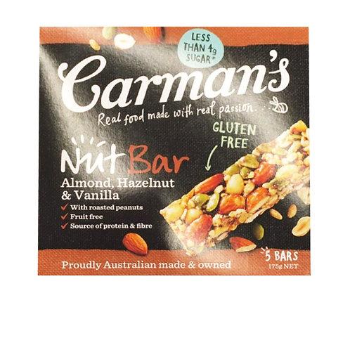 Carman's Nut Bars - Almond with Hazelnut & Vanilla 5 x 35g