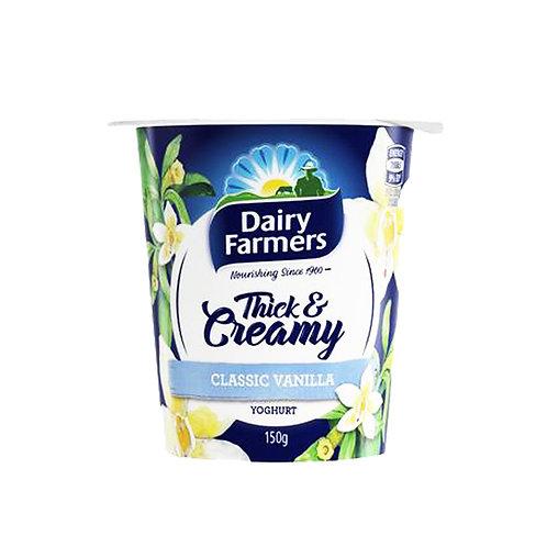 Dairy Farmers Thick & Creamy Yoghurt - Classic Vanilla 150g