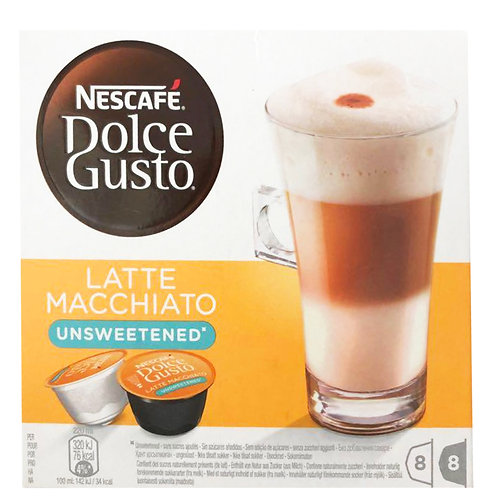 Nescafe Dolce Gusto Beverage Capsules-LatteMacchiato(Unsweetened) 8 servings