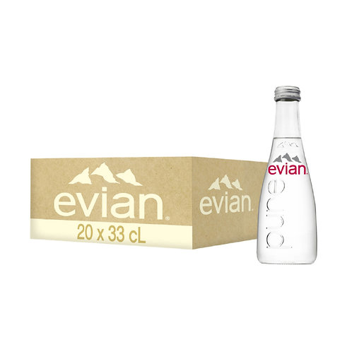 EVIAN Glass 20 x 33cl