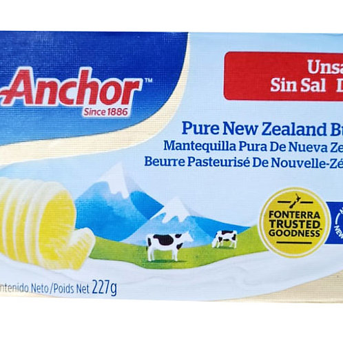 Anchor Pure New Zealand Block Butter - Unsalted 227g