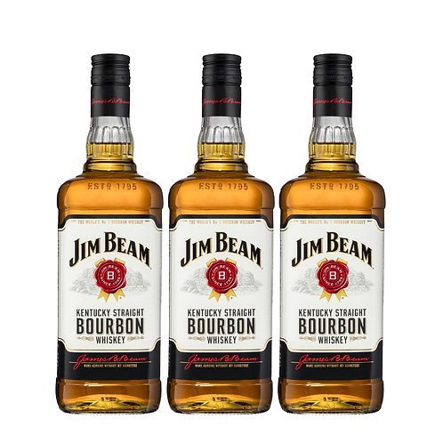 WOW DEAL - Triple  JIM BEAM White Label  75cl