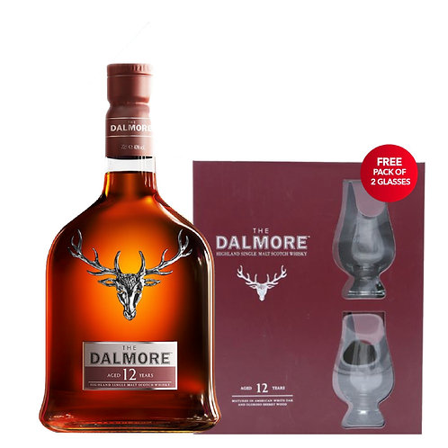 Dalmore 12 Years Single Malt Whisky GiftSet With 2 Glasses
