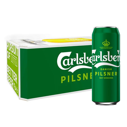 Carlsberg Danish Pilsner Beer Can 500ml (Pack of 24) Green Taba