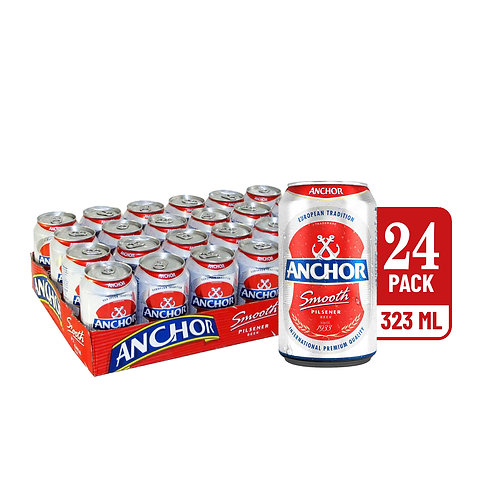 Anchor Smooth Pilsener Beer Can 320ml (Pack of 6) x 4