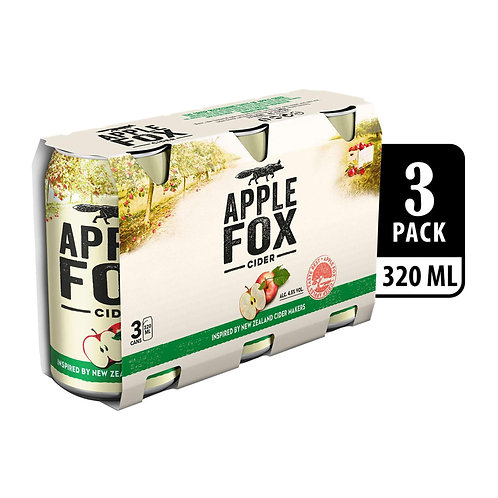 Apple Fox Cider Can 320ml (Pack of 3) x 8