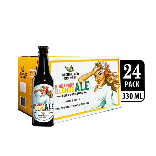 Archipelago Brewery Singapore Blonde Ale Craft Beer Bottle 330ml (Pack of 24)