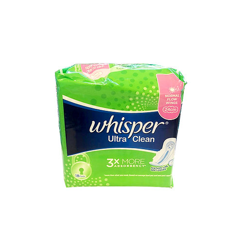 Whisper Ultra Clean Wings Pads - Norm Day (24cm) 18 per pack