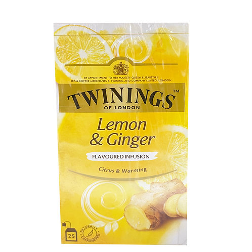 Twinings Flavoured Infusion Teabags - Lemon & Ginger 37.5g