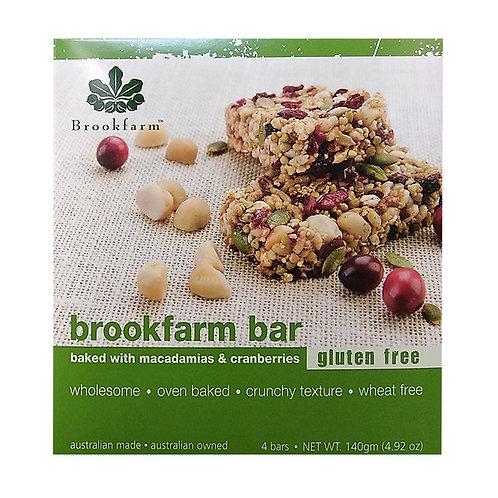 Brookfarm Bar - Macadamias & Cranberries140g (4 per pack)