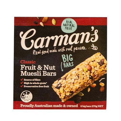 Carman's Muesli Bars - Classic (Fruit & Nut) 6 x 45g