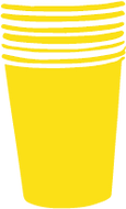 One of our bright yellow cups for our Fresh Italian coffee here in our cafe at Y-oga Store Peckham