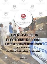 2020.08.24 Electoral Reform - First reco