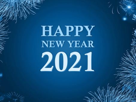Meilleurs vœux pour cette année 2021 !