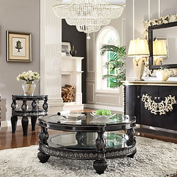 Marvelous 3 Piece Victorian European Coffee End Table Set