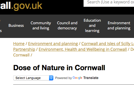 NOW ONLINE: consultation for a nature-on-referral service for Cornwall