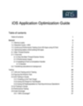 AMS - iOS Application Optimization Guide