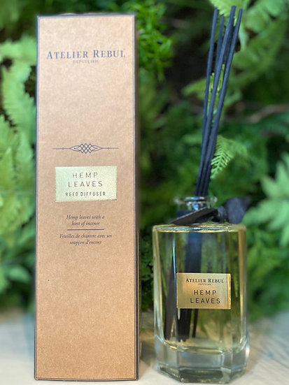 Hemp Leaves Reed Diffuser : Premium Collection