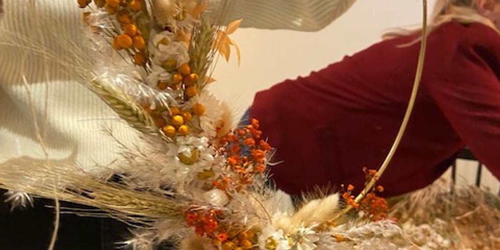 Krans van droogbloemen 14|11