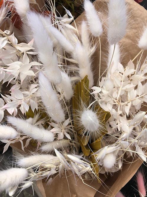 Boeket droogbloemen wit-natuur
