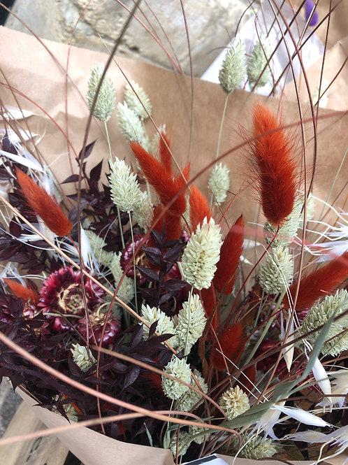 Droogbloemboeket bruin - natuur