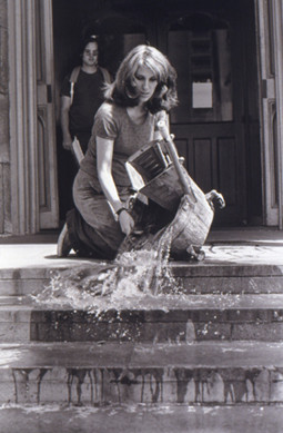 Washing the museum stairs