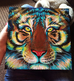 Tiger animal portrait