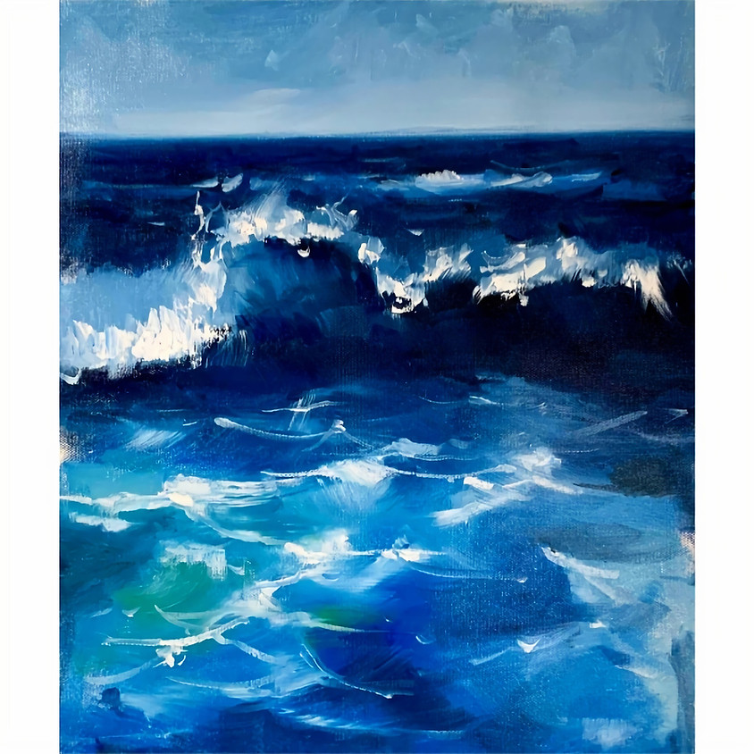Introduction to Oil Painting - Stormy Sea Wave