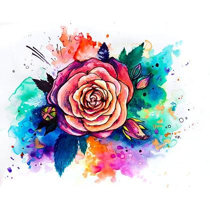 Watercolour Rose - Video Recording