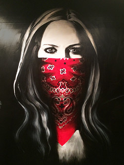 """""""Avril Lavigne"""" Wall Mural Painting"""