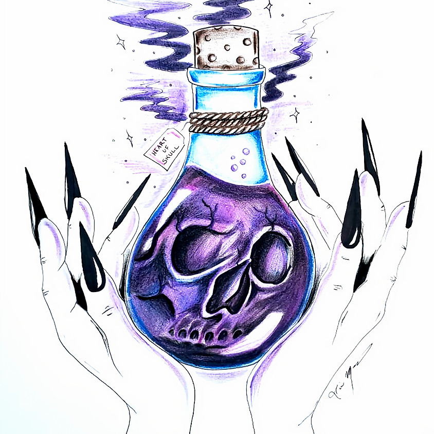 Heart of Skull - Drawing