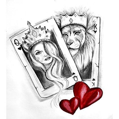 Queen Of Hearts - HB Pencil Drawing - Video Recording