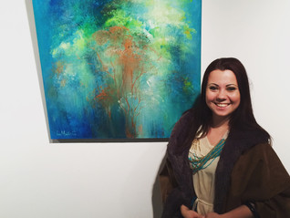 """En Route"" opening reception at Papermill Gallery"