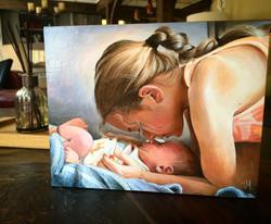 Portrait commission painting
