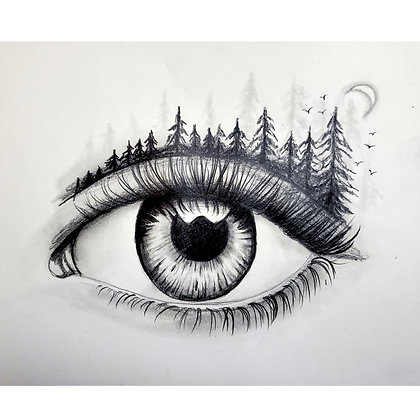 Eye of the Forest Drawing - Video Recording