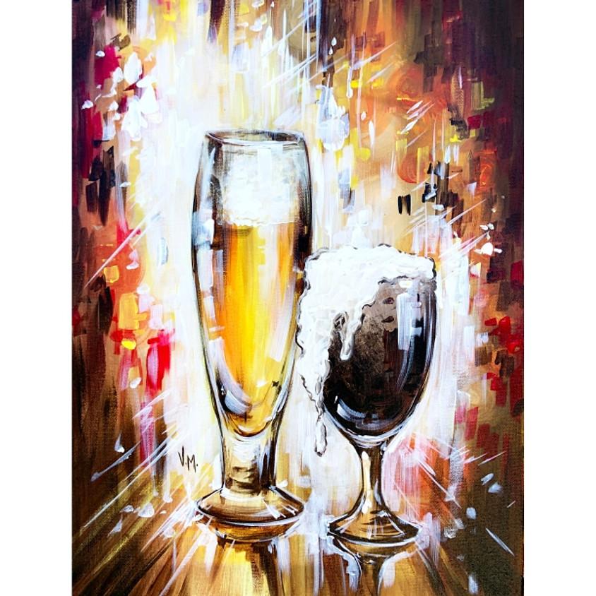 """""""Beer Time""""  - Paint Beer + Enjoy Beer"""