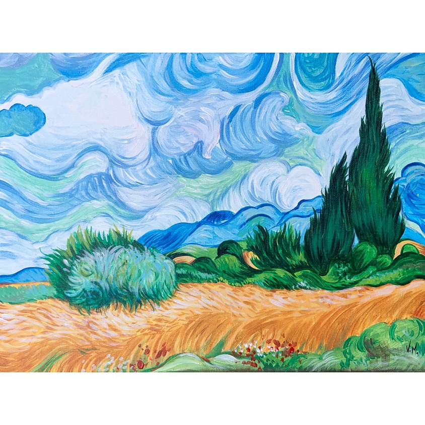 Recreate a Masterpiece - Wheatfield with cypresses