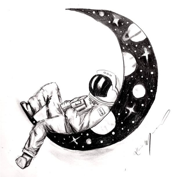 Astronaut in Space HB Pencil - Space Week