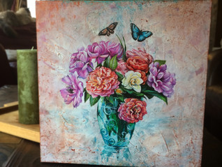 Commissioned painting I just finished for beautiful Marissa!
