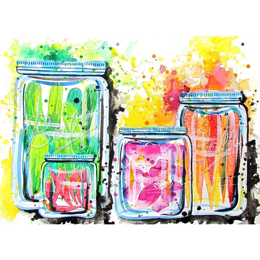 Harvest Preserves - Watercolour