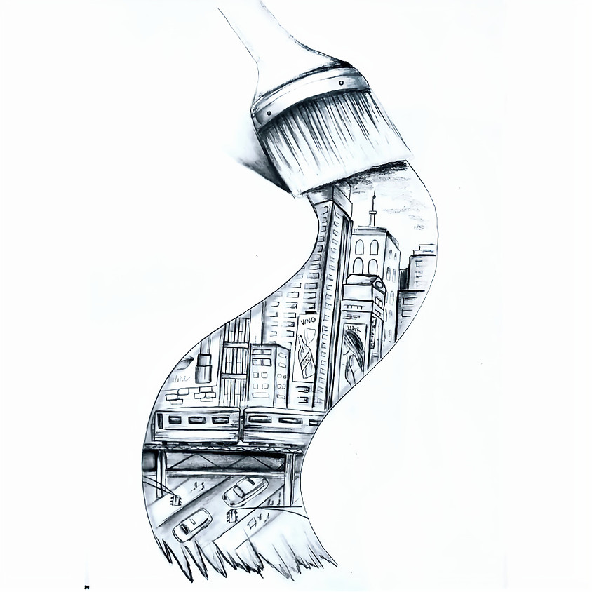 Paint the Town - HB Pencil Drawing