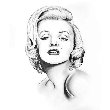 Marilyn Monroe - HB Pencil Drawing - Video Recording