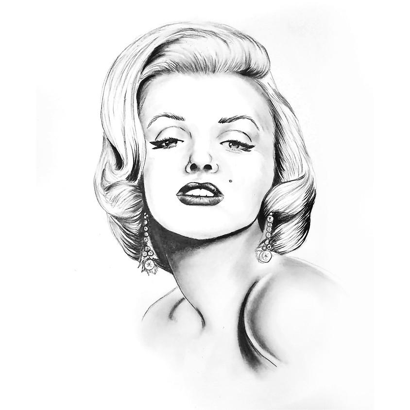 Marilyn Monroe - HB Pencil Drawing