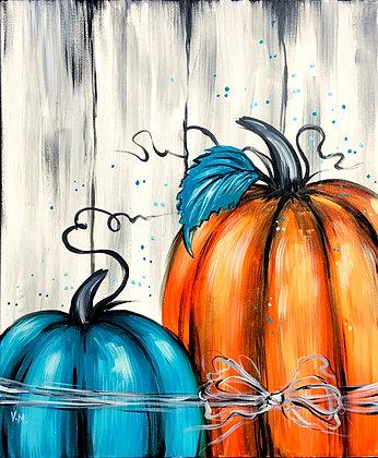 Teal and Orange Pumpkin Duo - Video Recording