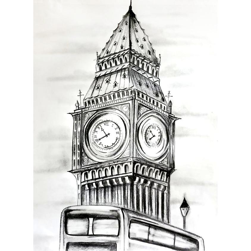 Big Ben - HB Pencil Drawing
