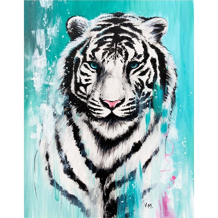 Bold White Tiger