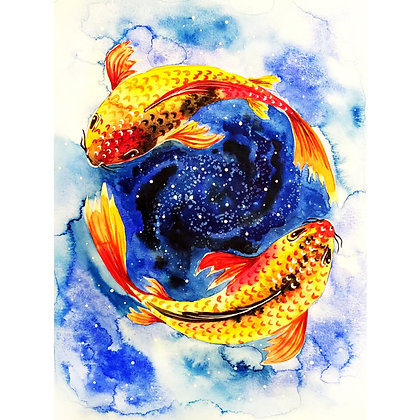 Galaxy Koi Pond Watercolour - Video Recording