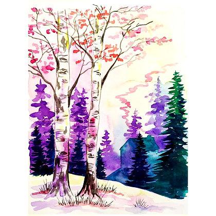 Countryside Winter Watercolour - Video Recording