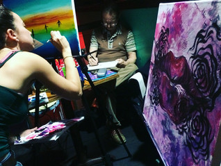 Live Painting with Amanda Maccagnan at Pacific Junction Hotel