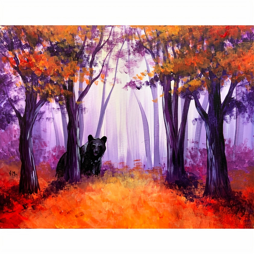 Bear in a Fall Forest